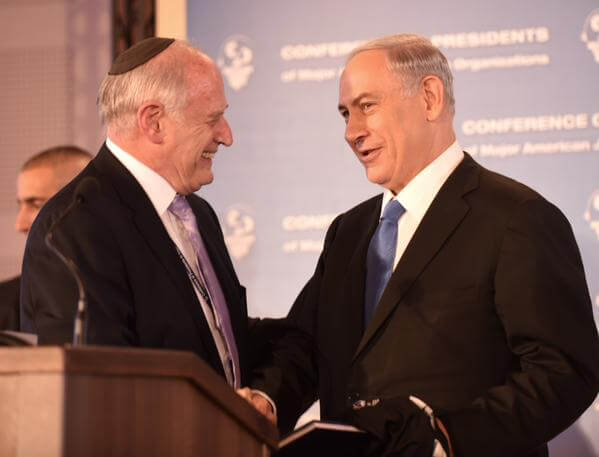 Hoenlein and Netanyahu in February