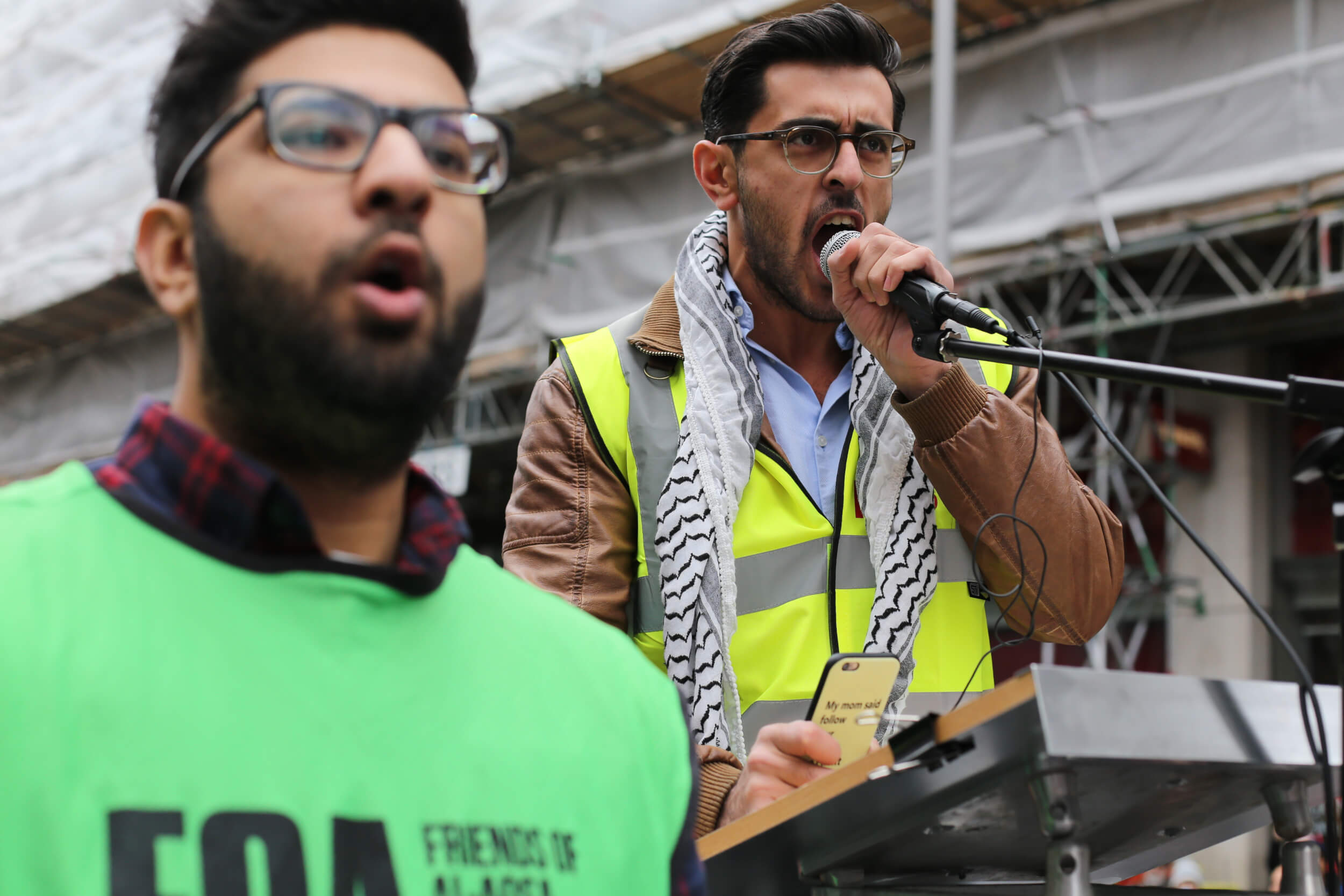 Yaman Birawi from the Palestinian Forum in Britain. (Photo: Sara Anna)