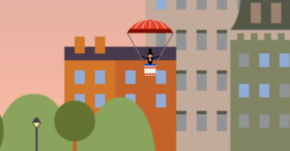 Interactive Google Doodle Celebrates First Parachute Jump