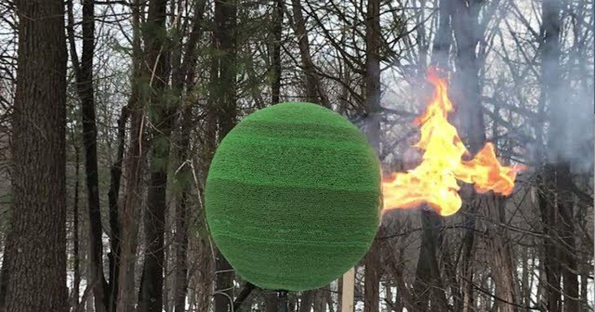 man set a sphere