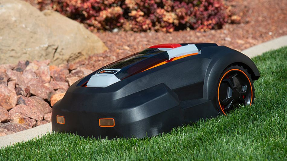 This little mower uses no gas or oil, and is completely wireless.