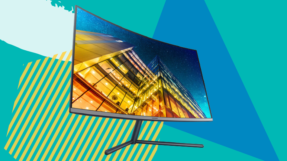Get immersive viewing thanks to the curved 4K screen.
