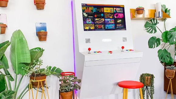 Enjoy thousands of games with this wall-mounted arcade machine.
