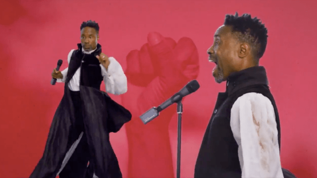 Watch Billy Porter's glorious green-screen performance at the Democratic convention