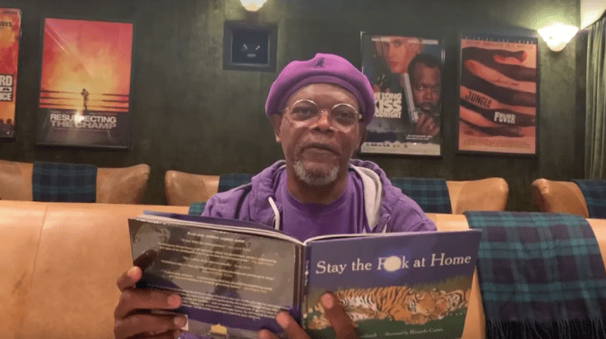 'Stay the f**k at home': Samuel L. Jackson reads you a sweary, poetic social distancing PSA