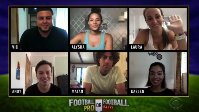 Jason Sudeikis and James Corden play enjoyable Zoom game of 'Football Pro or Football No?'