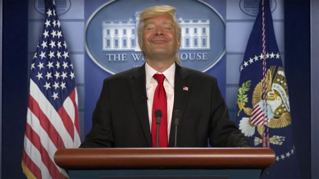 Jimmy Fallon's latest Trump impression mocks the president's reaction to Kamala Harris