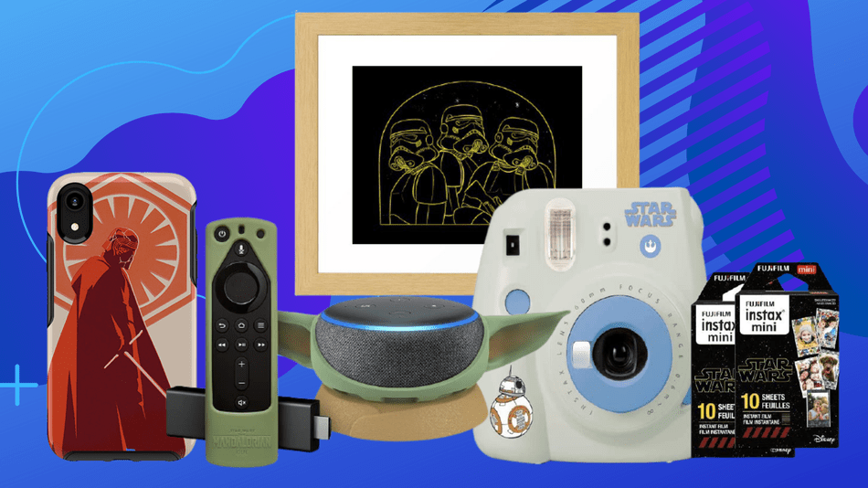 Get discounts on everything baby Yoda, Kylo Ren, Darth Vader, and more.