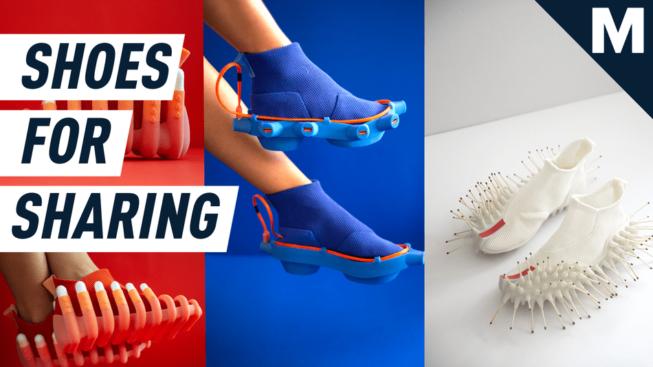These shoes can charge your phone, get a tampon, and light a match