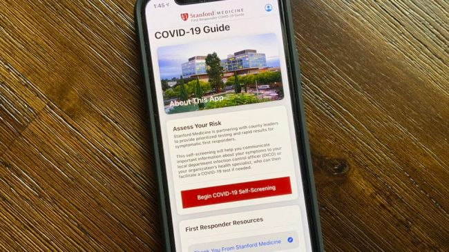 Stanford releases coronavirus screening iOS app for first responders