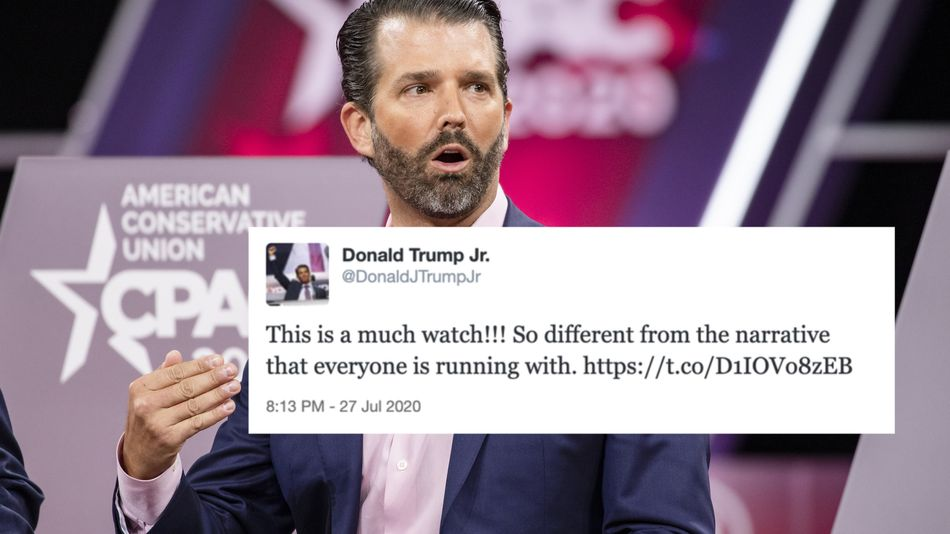 Donald Trump Jr. suspended from Twitter for posting misleading COVID-19 news