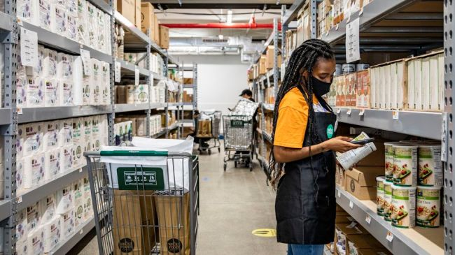 It looks like Whole Foods, but it's Amazon's first online-only grocery store