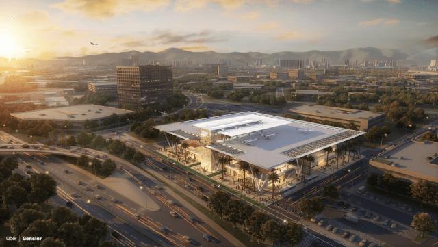 Gensler's design for an LA skyport.