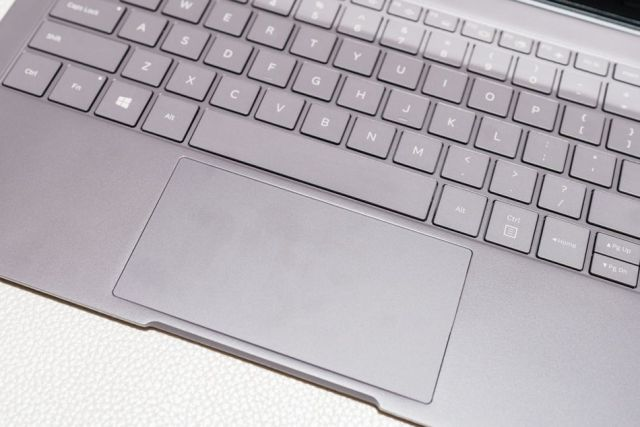 The trackpad is spacious and responsive.