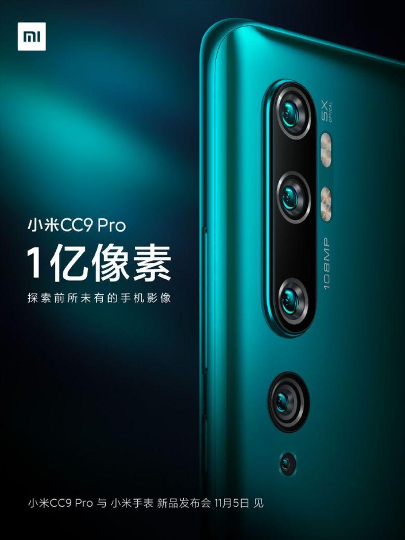 The Xiaomi Mi CC9 Pro is coming November 5.