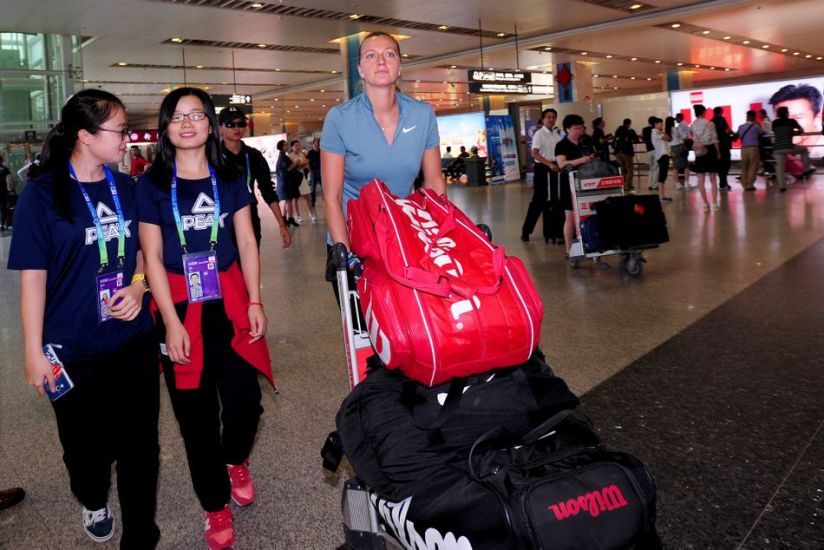 In 2016, Czech tennis player Petra Kvitova arrived at Tianhan International Airport in Wuhan before the coronavirus spread from the city.