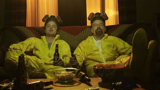 Walter White (Bryan Cranston) teams up with former student Jesse Pinkman (Aaron Paul) to cook and sell crystal meth on 'Breaking Bad.'