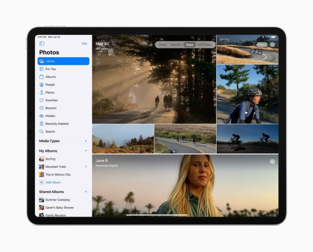 iPhone: It's now easier to navigate through different photo albums.
