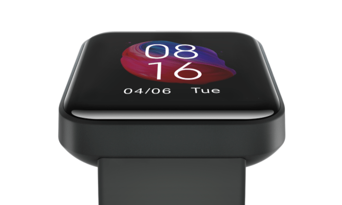 The Xiaomi Mi Watch Lite has a 1.4-inch LCD display with curvy sides.