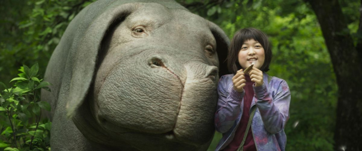Mija (Ahn Seo-Hyun) and Okja in Bong Joon-Ho's surprisingly silly yet thought-provoking