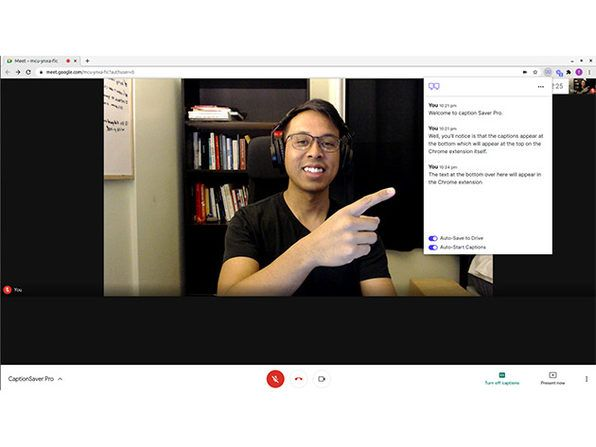 This Chrome extension auto-saves live transcripts of your meetings