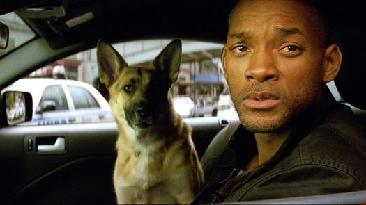 Will Smith with his trusty canine companion in