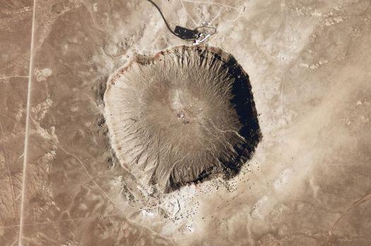 The Meteor Crater in Arizona.