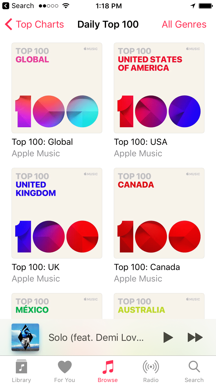 Image screenshot by sasha lekach mashable also apple music adds  top charts for all subscribers everywhere rh