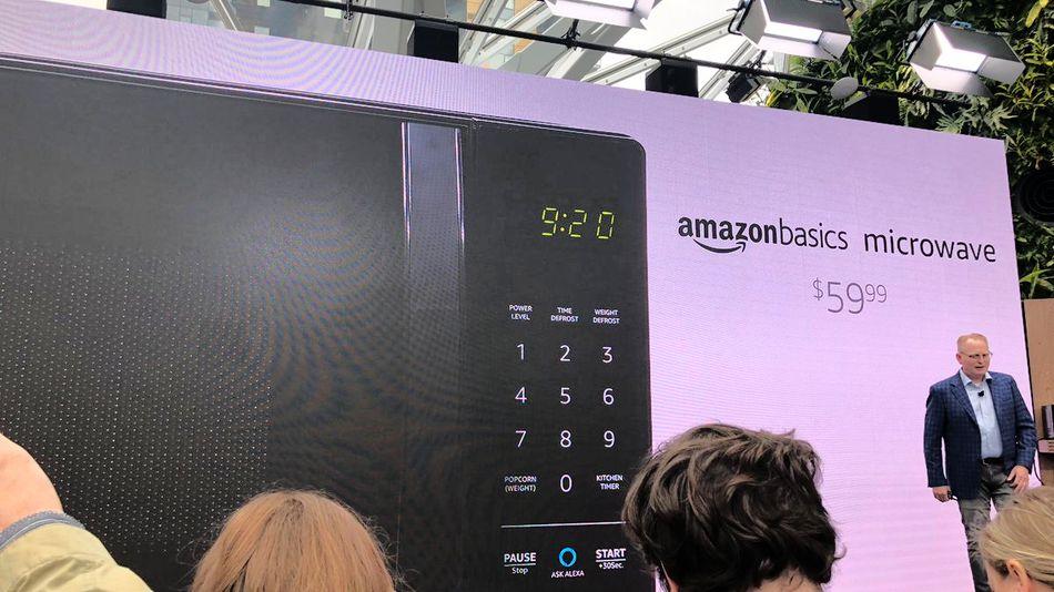 amazon unveils an alexa powered microwave