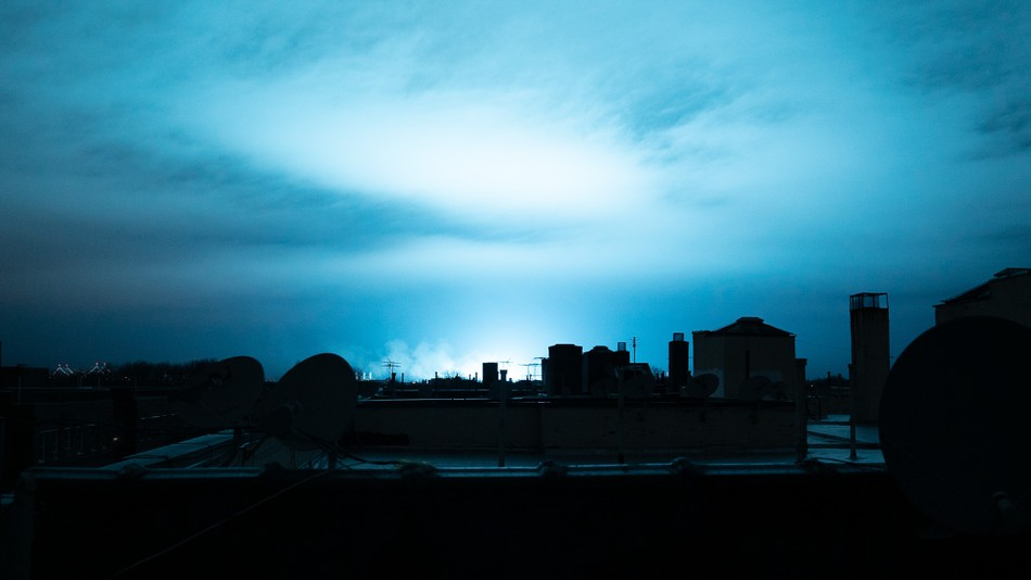 A Bright Line Originating From Queens Lit Up The Entire New York City Skyline On December