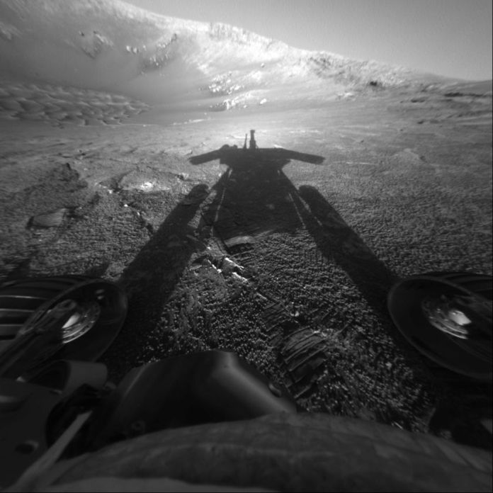 Opportunity Shadow taken on July 27, 2004.