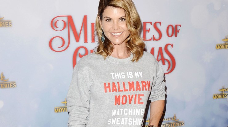 Lori Loughlin attends the Hallmark Channel Holiday Party and 'Once Upon a Christmas Miracle' screening, in Los Angeles in 2018.