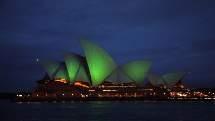 Sydney Opera House, St-Patrickified
