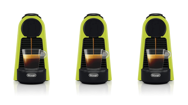 You put the lime in the *espresso machine* and drink it all up... or something like that.