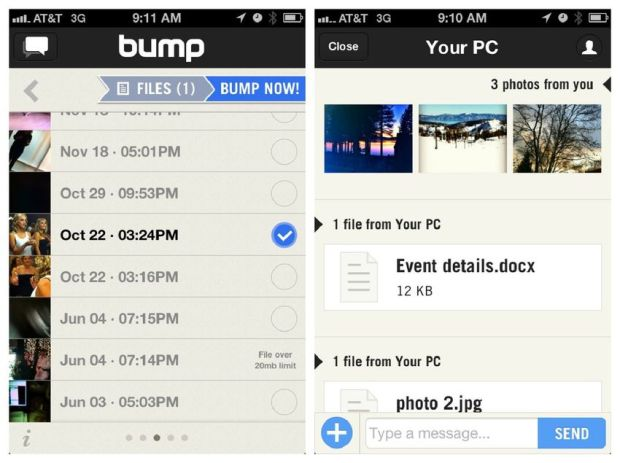 Remember Bump, the app that was once hailed as a business-card killer? It was among the first apps that allowed users to transfer contact information to someone else by touching (or bumping) two devices together. The app used the iPhone's built-in sensors, accelerometer and IP address to make the transfer (kinda) seamless.   In later updates, it rolled out the ability to share photos and files in the same way — and long before Airdrop arrived on iOS. It also had a partnership with PayPal to transfer funds in a similar way. While Bump had a respectable five-year run, it never broke out of its bubble of dedicated power users. The app was discontinued in 2014 after Google acquired it.