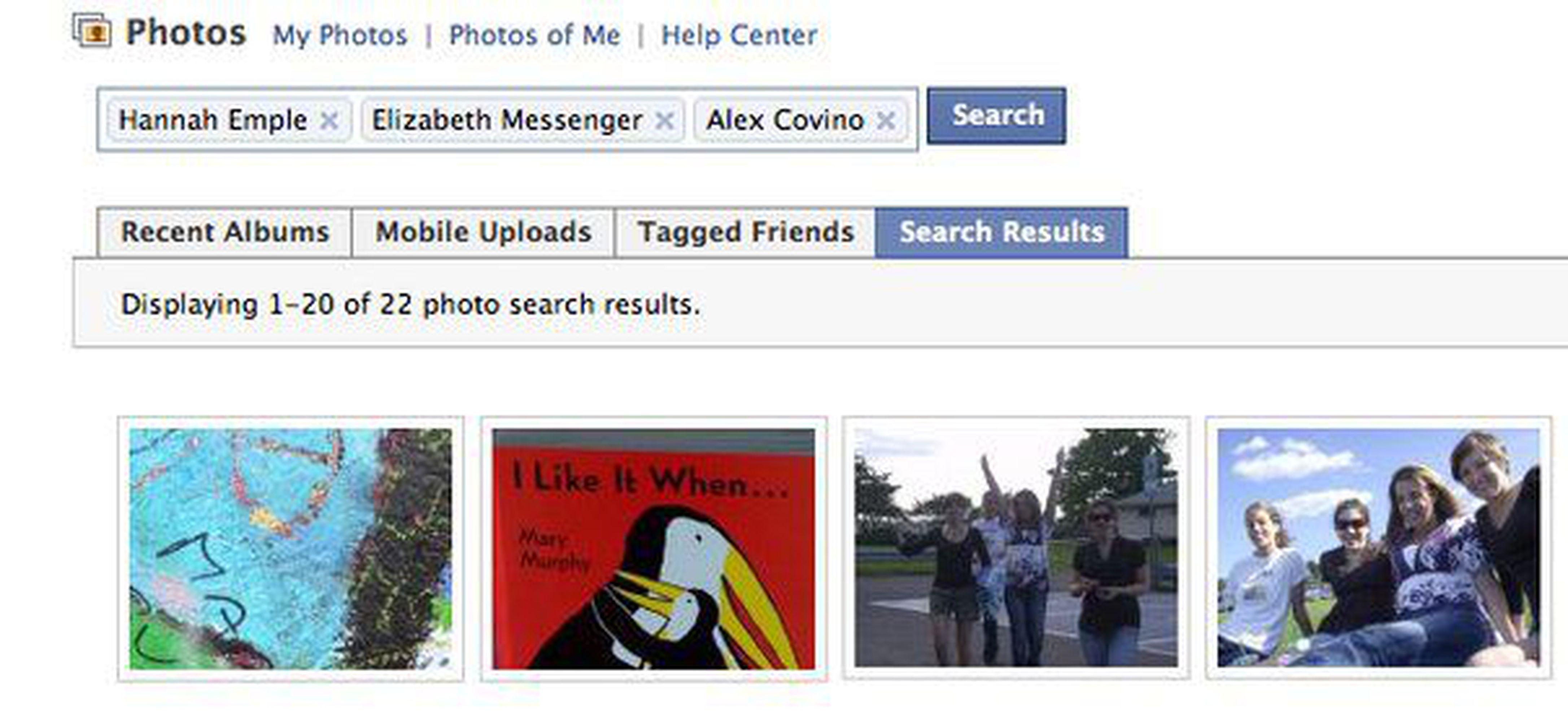 facebook photo tag search