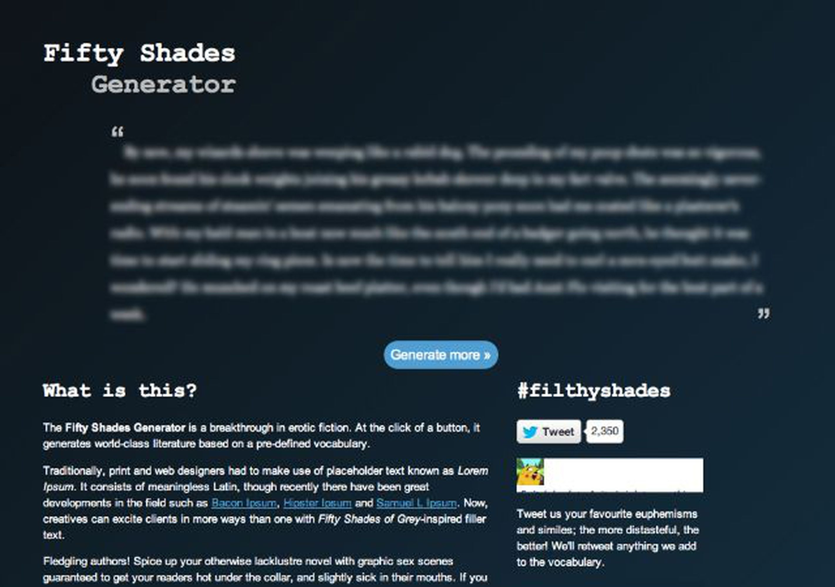 fifty shades generator spices