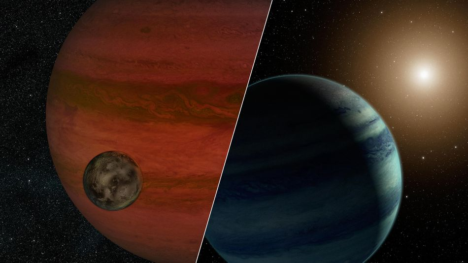 """Researchers have detected the first """"exomoon"""" candidate -- a moon orbiting a planet that lies outside our solar system."""