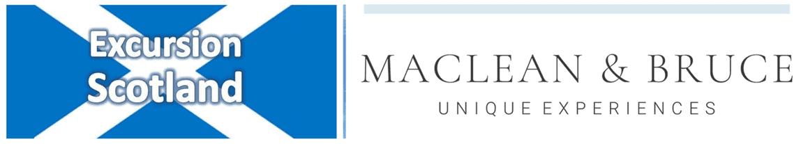 Excursion Scotland + Maclean & Bruce logos