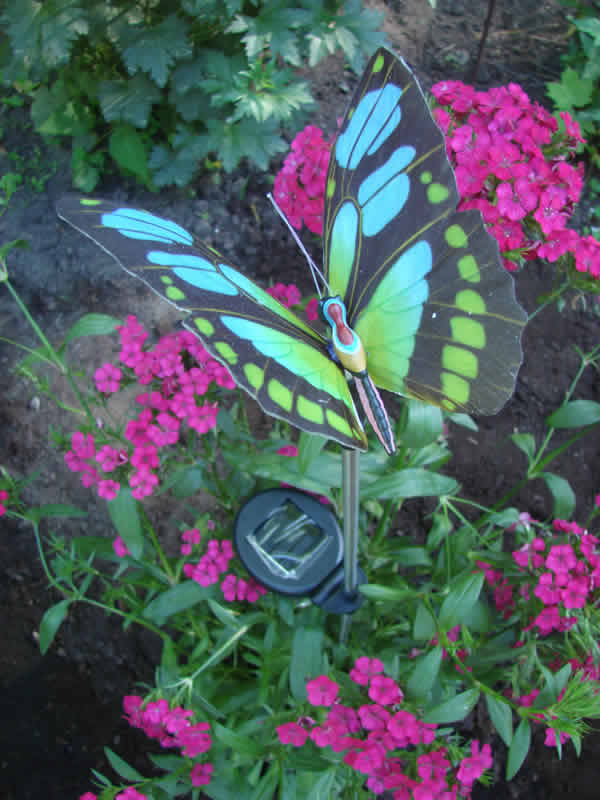 Solar Butterfly Stake Mondus Distinction Garden Decor