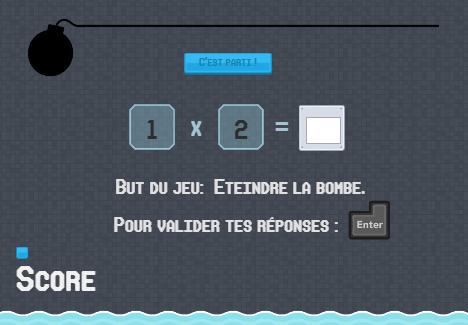 Jeu en ligne multibomb entrainement aux tables de - Jeu en ligne table de multiplication ...