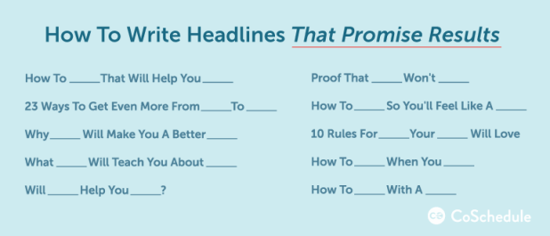 write headlines that promise results