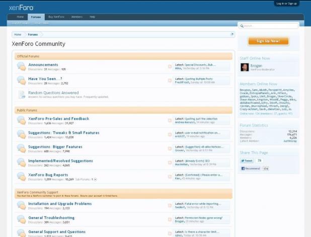 Start a Forum using Xenforo
