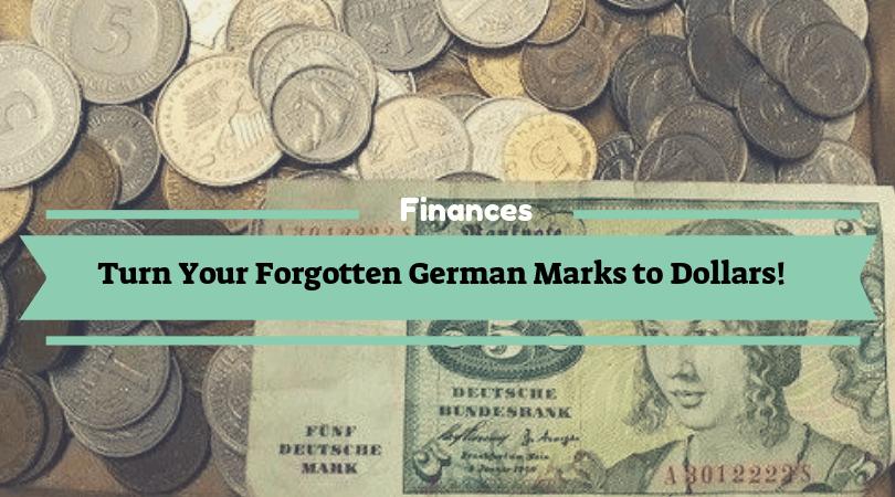 Forgotten german marks to Euro or Dollars