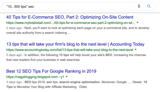 Google Search: SEO Tips