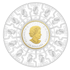 150th Anniversary of Canada Silver Puzzle Coin Obverse