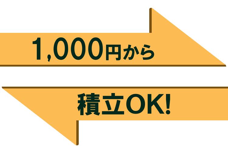 1,000円からの少額積立投資