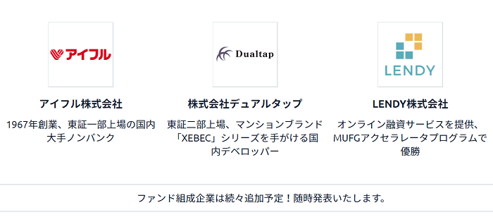 Fundsの組成企業