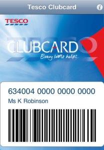 Tesco Clubcard app