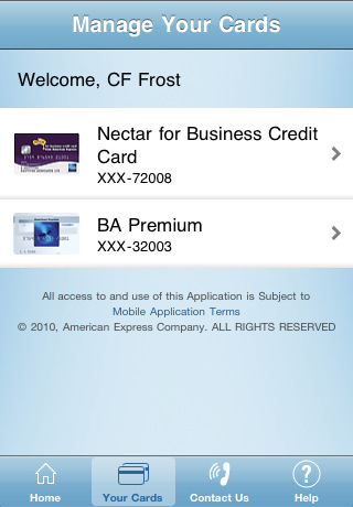 American Express iPhone App